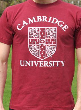 Official University of Cambridge Large Crest Print T-Shirt