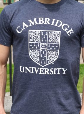 Official University of Cambridge Large Crest Print T-Shirt