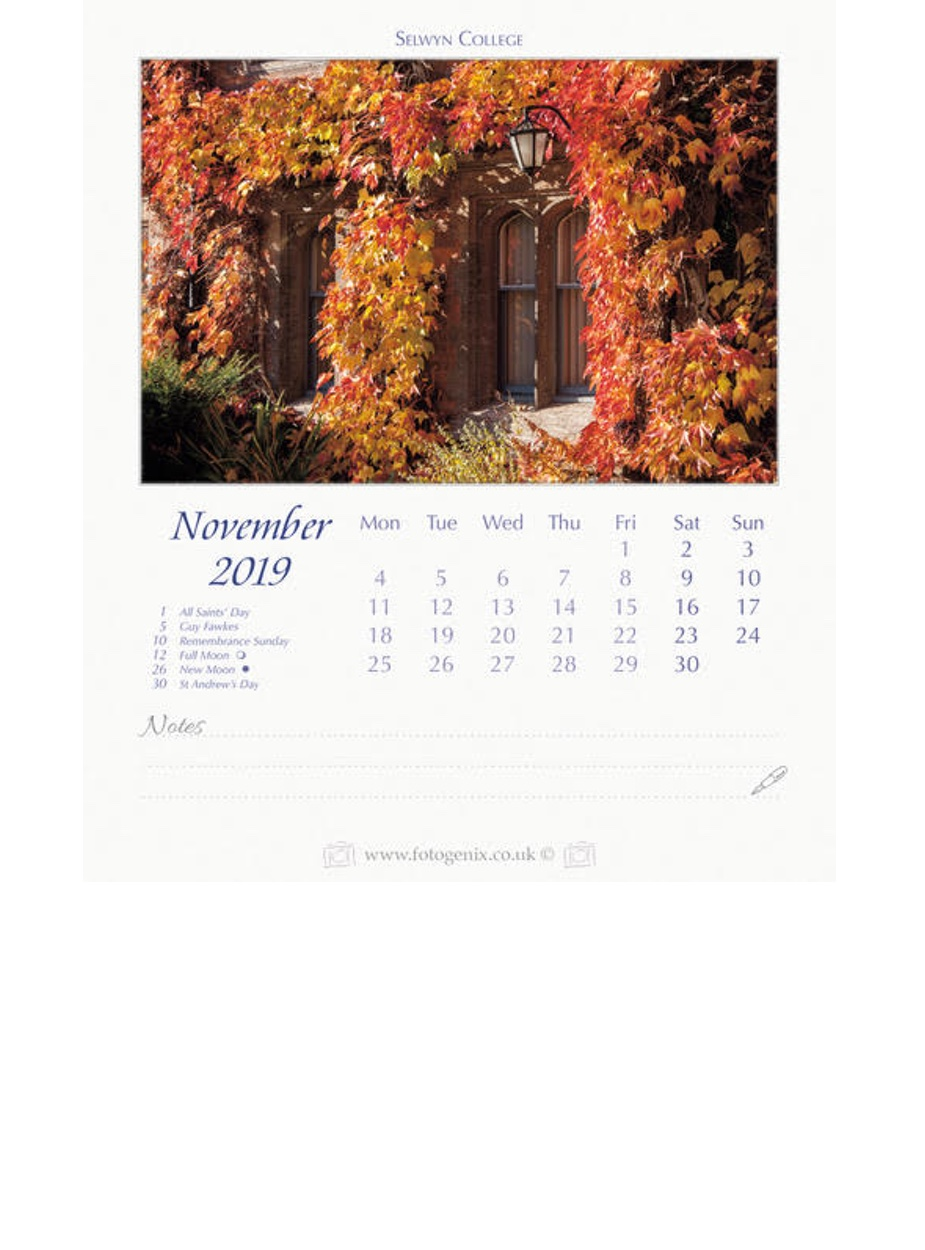 Cambridge Desktop Calendar 2019 Ryder Amp Amies