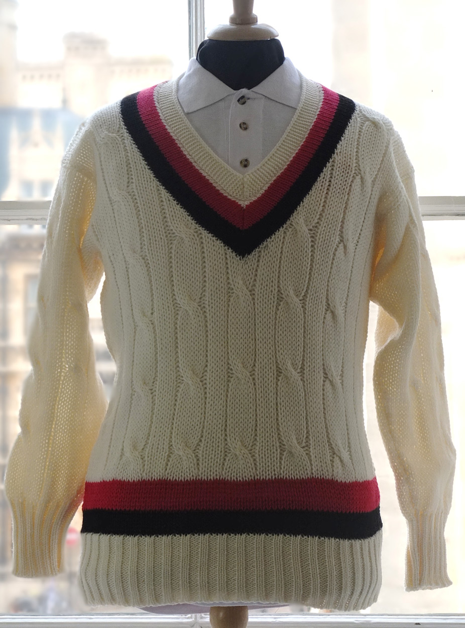 Knitting Pattern For Cricket Sweater : Jesus College Cricket Sweater - Ryder & Amies