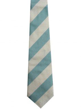 half blue silk tie