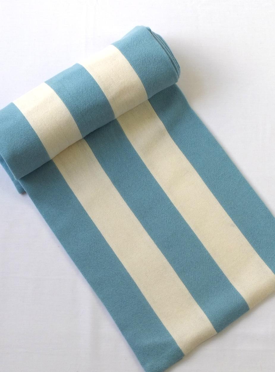 half blue scarf