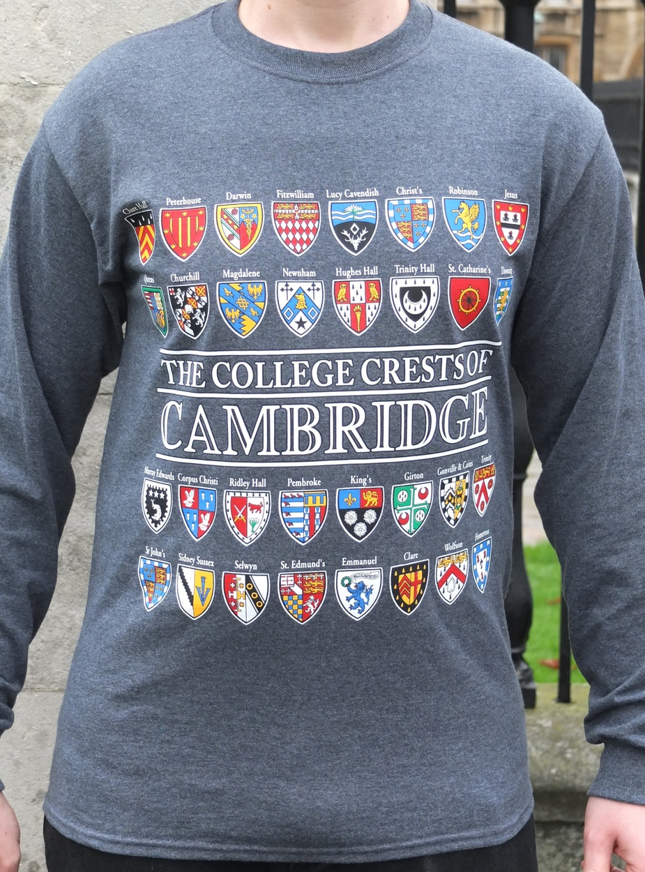 5dc45ca4f The College Crests of Cambridge Long Sleeve T-Shirt - Ryder & Amies