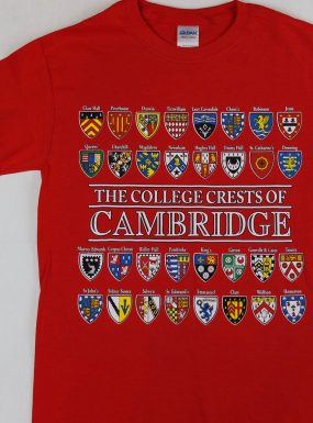 The College Crests Of Cambridge T-Shirt – Red – SALE