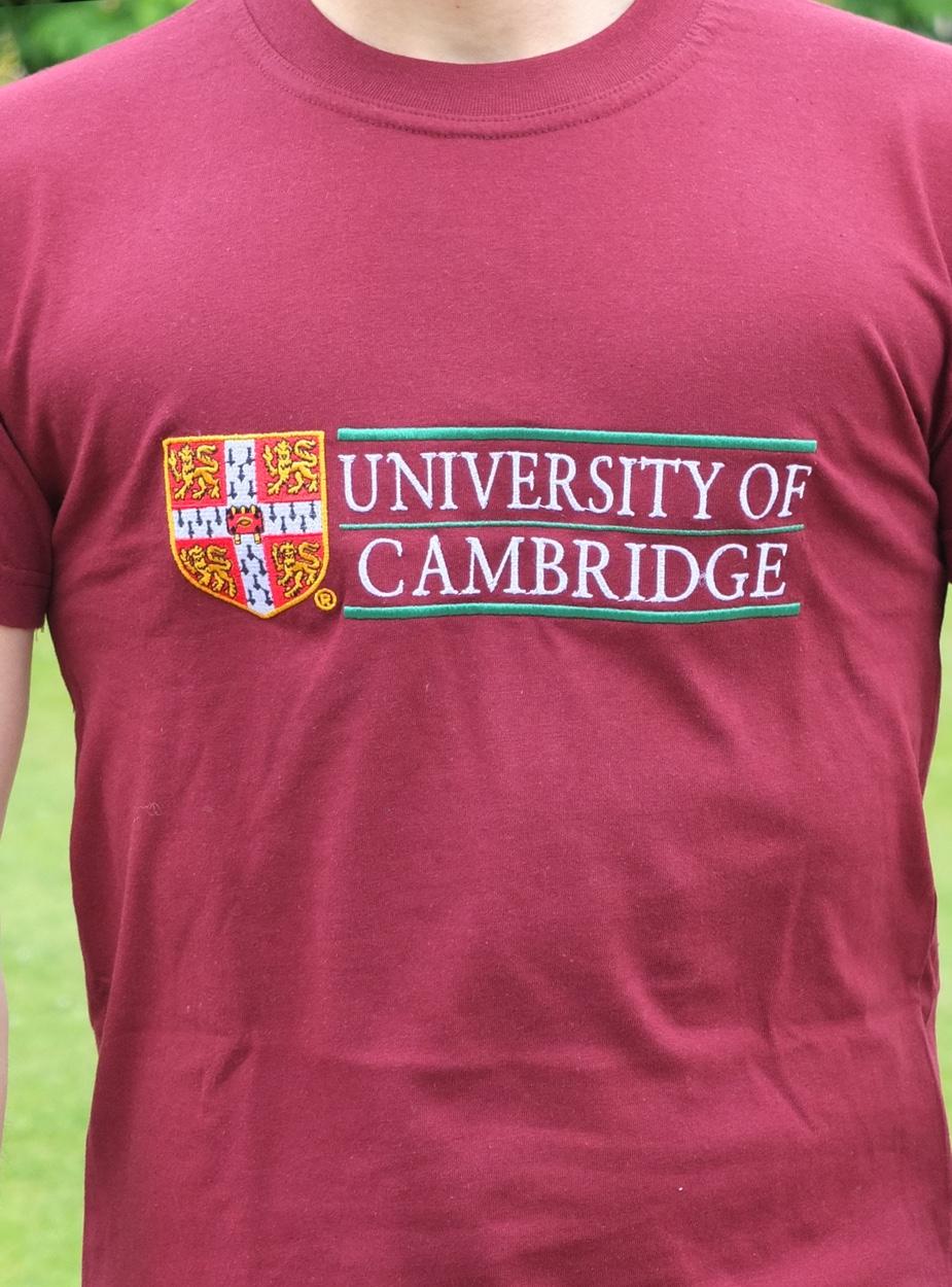 Design t shirt universiti - Official Cambridge University Modern Design T Shirt