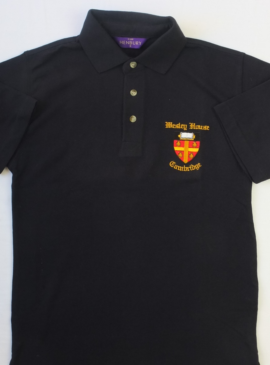 Wesley house crest polo shirt ryder amies for Wesley house