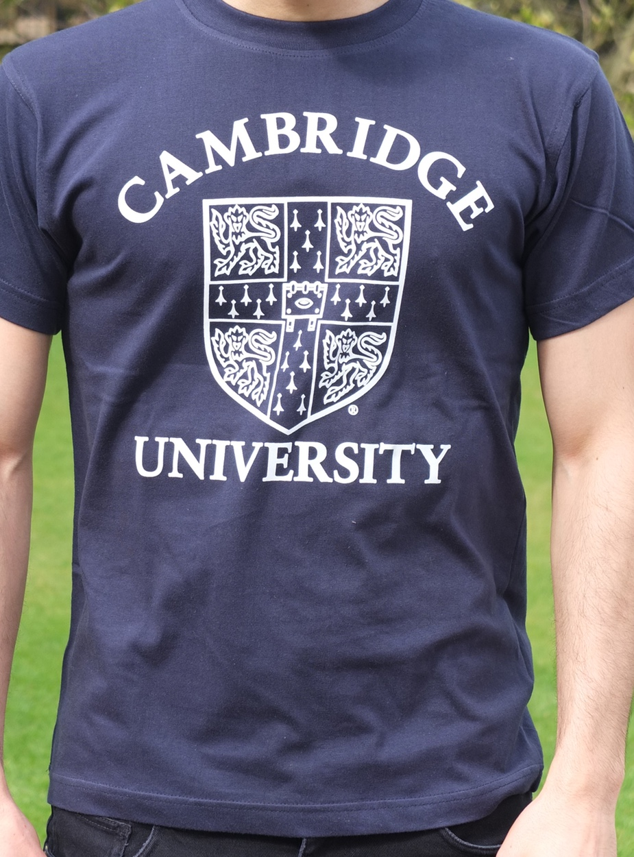 official university of cambridge large crest print t shirt