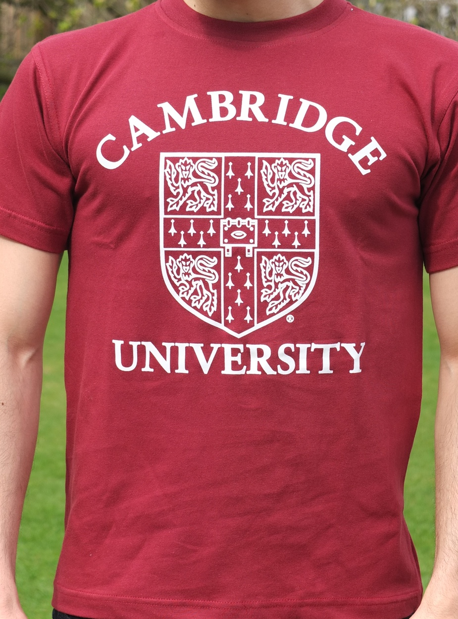 Design t shirt universiti - Official University Of Cambridge Large Crest Print T Shirt