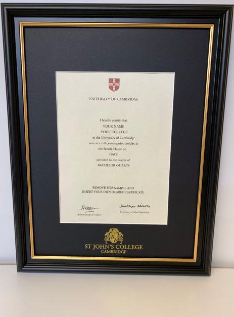 Graduation Certificate Frame
